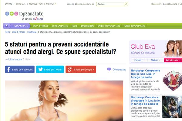 5 sfaturi pentru a preveni accidentarile atunci cand alergi. Ce spune specialistul? | eva.ro